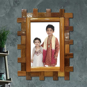 "Handcrafted Wooden (6X8)"" Photo Frame Rectangle (TLS-WF-M01)"