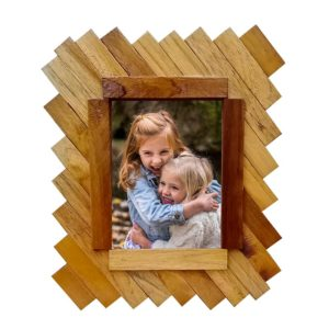 "Handcrafted Wooden (5X7)"" Photo Frame- (TLS-WF-GH01)"